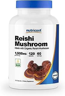 Nutricost Organic Reishi Mushroom Capsules 1500mg, 60 Servings - Certified CCOF Organic, Vegan, Gluten Free, 750mg Per Cap...