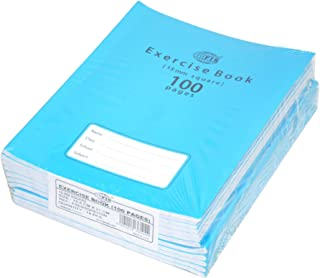 FIS Exercise Books 15 mm Square with Left Margin, 100 Pages, Pack of 12 Pieces, 16.5 x 21 cm Size - FSEBSQ15100N