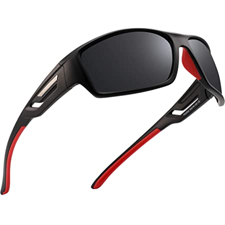 PUKCLAR Polarised Sports Sunglasses for Men Women Driving Sunglasses Cycling Running Fishing Goggles Unbreakable Frame