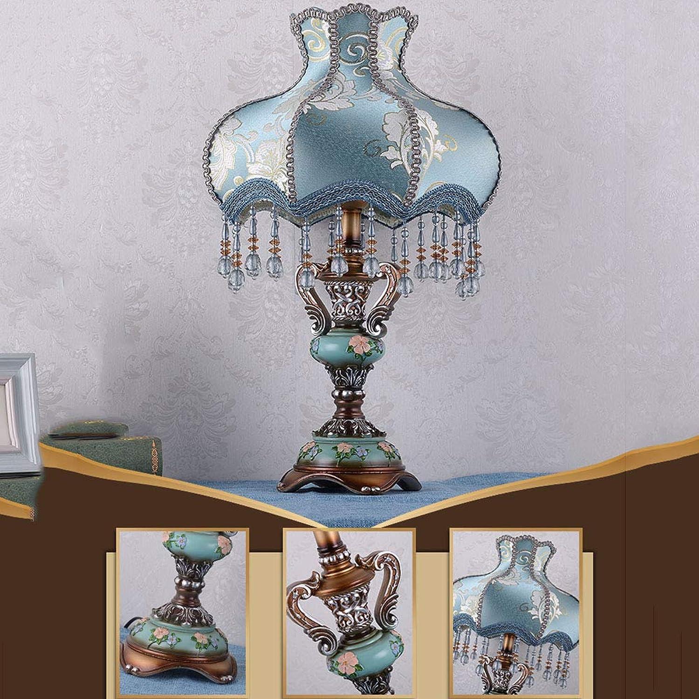 DULIMEI Tischlampe Europischen Nachttischlampe Prinzessin Garten Kreative Hochzeitsdekoration Tischlampe Hochzeitszimmer Warme Romantische Tischlampe Retro,S