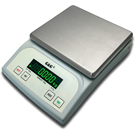 G&G KF15KA|B, 15kg-1g |0,1g - Balance de table de précision pour paquet KF-15KB: Bis 3kg in 0,1g & 15kg in 1g
