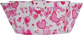 8-inch Plastic Heart Fluted Bowl Party Accessory