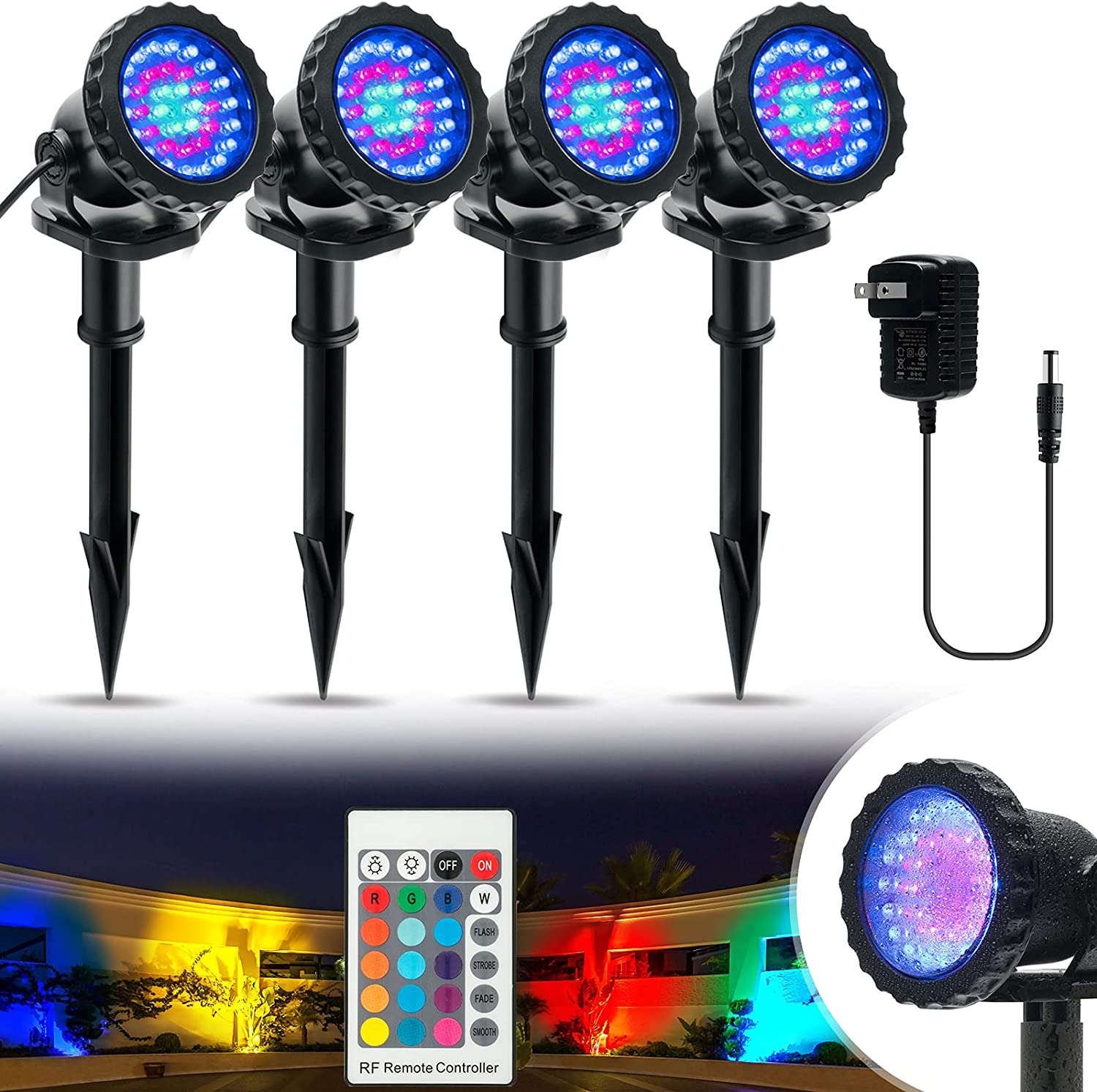 Color Changing LED Landscape Lighting Lights 12W Brand new Dealing full price reduction IP68