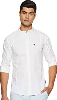French Connection Men's Solid Slim fit Casual Shirt