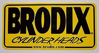 Montree Shop BRODIX Sticker Decal Cylinder Heads Ford Chevy Pontiac Mopar HEMI Import LS 5.0