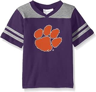 Two Feet Ahead NCAA Clemson Tigers Toddler Boys Football Shirt, Purple, 4
