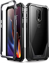 OnePlus 6T Case, Poetic Guardian [Scratch Resistant Back] [Built-in-Screen Protector] Full-Body Rugged Clear Hybrid Bumper...
