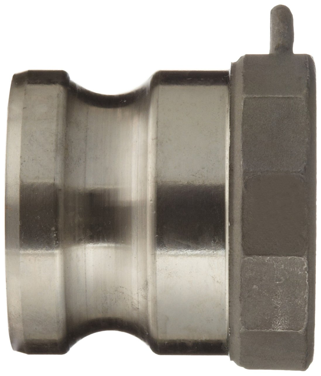 Dixon 300-A-SS Stainless Steel 316 Boss-Lock Type A Cam and Groove Hose Fitting 3 Plug x 3 NPT Female