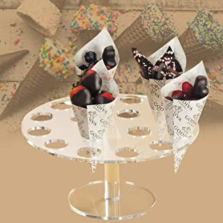 Mini Ice Cream Cone Stand, Clear Acrylic Sushi Hand Rolls Holder Weddings Baby Showers Birthday Parties Anniversaries Hall...