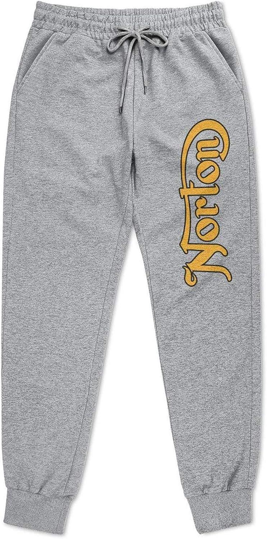 YYWCJ Super intense SALE Men Sports Norton Motorcycle Tapered Logo Sweatpants New mail order Grey