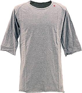 [SWEEP!! LosAngeles スウィープ ロサンゼルス] メンズ コットン 5分袖 ラグランスリーブTシャツ RAGLAN SWFJRLN-13 MELANGE(グレー)