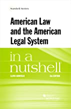 American Law and the American Legal System in a Nutshell (Nutshells) (English Edition)