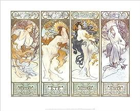Culturenik Alphonse Mucha Les Saisons II Decorative Fine Art Nouveau Poster Print 16x20