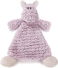 Harlow Hippo Lavender Children's Plush Rattle Blankie