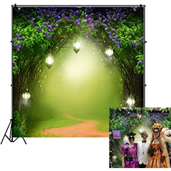6.5x6.5ft Fairy Forest Backdrop Enchanted Cartoon House Photography Background Spring Party Holiday Children Kids Portrait Photo Vedio Studio Props