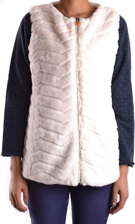 SAVE THE DUCK Women's MCBI28834 White Polyamide Vest