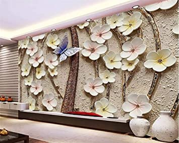 Buy Avikalp Exclusive Awz0264 3d Wallpaper 3d Flower Butterfly Tv Background Walls Home Decoration Living Room Bedroom Hd 3d Wallpaper 91cm X 60cm Online At Low Prices In India Amazon In