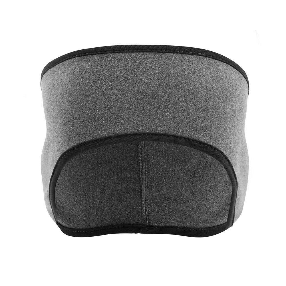 Men Women Winter Ear Warmers Headband Fleece Ski Running Cycling #RP113 (Dark Gray)