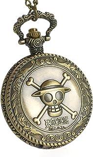 CoolChange One Piece Reloj de Bolsillo con el Jolly Rogers de los Piratas Sombrero de Paja