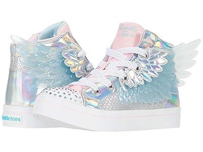 SKECHERS KIDS Twinkle Toes Twi-Lites 2.0 314401L (Little Kid) (Silver/Pink) Girl