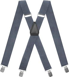 حمالات رجالي من MENDENG مع مشابك قوية شديدة التحمل مقاس 3.5 سم × شكل بدلة السهرة