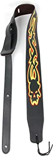 Bray Premium Universal Tribal Skull PU Leather Guitar Strap For Fender, Rockburn, Encore, Jaxville, Stagg & Lindo Electric Guitars - With Suede Feel Lining!