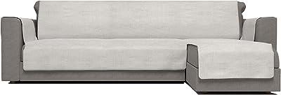 Comfort Con Penisola DX Italian Bed Linen Housse de canapé antidérapante, crème, 240 cm