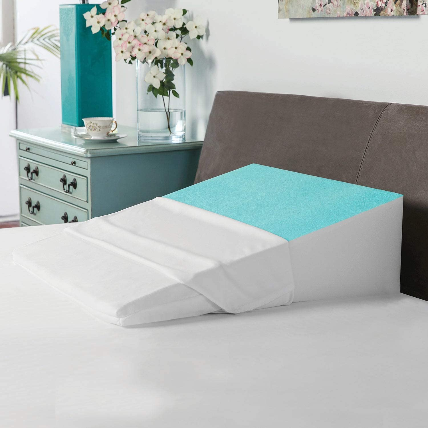 Bed Atlanta Selling Mall Wedge Pillow with Cooling Single Foam Memory Gel-Coated