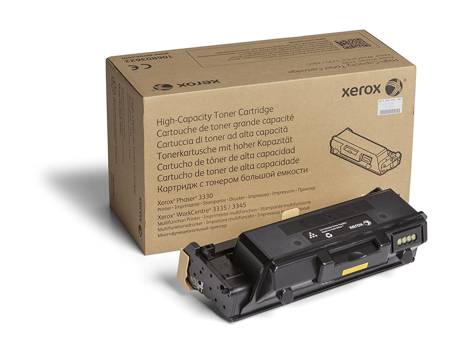 Genuine Xerox Black High Capacity Toner Cartridge (106R03622) - 8,500 Pages for use in Phaser 3330, WorkCentre 3335/3345