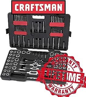 New Craftsman 107 Piece Tap and Die Set CASE Metric SAE Carbon Steel Hex Dies