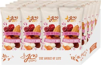 Vitality Mix by J.C.'s Quality Foods - Premium Mix of Coconut, Almond, Apricots, Sultanas, & Cranberries, Healthy Energy Boosting Snack - 20 x 30g Bags