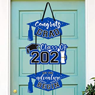 2020 Graduation Party Door Sign Cutouts Congrats Grad Class of 2020 Adventure Begins Wall Porch Hanging Decorations Suppli...