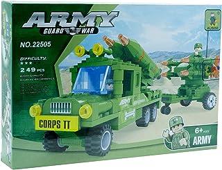Ausini 22505 Military Car with Rockets Building Blocks, 249 Pieces