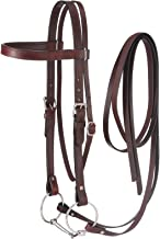 Tough 1 Western Leather Browband Draft Bridle
