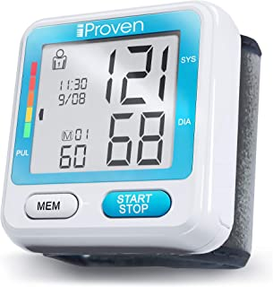 [New 2019 Model] iProven Blood Pressure Machine - BP Cuff for Wrist - with 2x90 Memories - Blood Pressure Cuff - Protective Case and Batteries Included - BPM-317 Wrist Blood Pressure Monitor
