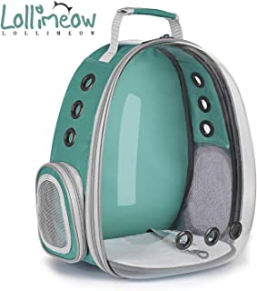 Lollimeow Cat Carrier Backpack,Dog Carrier for Small Dogs, Bubble Pet Carrier Airline Approved