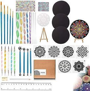 UHAPEER Mandala Dotting Outils 40PCS, Mandala Peinture Kit, Rocks Dotting Tools avec 3 cartons, pinceaux d'art Mandala pou...