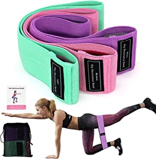 Rag & Sak® Resistance Bands for Legs and Butt, Exercise Bands Hip Bands Wide Booty Bands Workout Bands Sports Fitness Band...