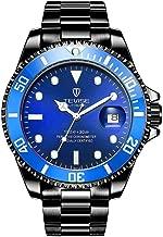 Swiss Luminous Submariner Watch Men's Automatic Mechanical Watch Fashion Black Stainless Steel Waterproof Calendar Watch
