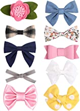 Baby Girl Hair Clips Bows Fully Lined Alligator Clip Hair Accessories for Toddler Kids Teens