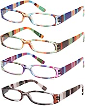 Gamma Ray Women's Reading Glasses - 4 Pairs Ladies Fashion Readers for Women