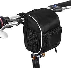 Manubrio Borsa Multifunzionale, Sacchetto Anteriore del Manubrio con Copertura Antipioggia per Bici Bicicletta