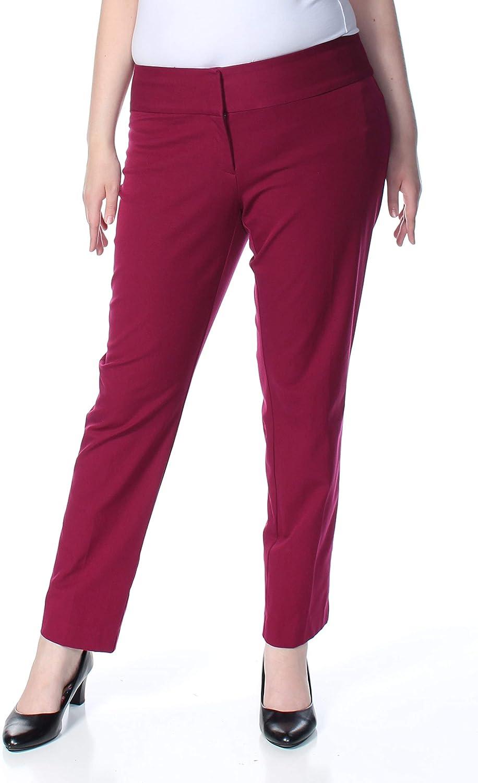 Alfani Womens Slim Straight Leg Tummy Control Dress Pants