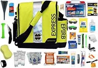 Fully Loaded Boat Abandon Ship Survival Ditch Bag - Complete Life Raft Emergency Kit for Survival in a Life Raft If Stranded On The Ocean