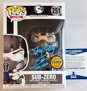 Steve Blum Subzero Autographed Signed Memorabilia Chase Funko Pop Autograph Mortal Kombat Beckett Coa