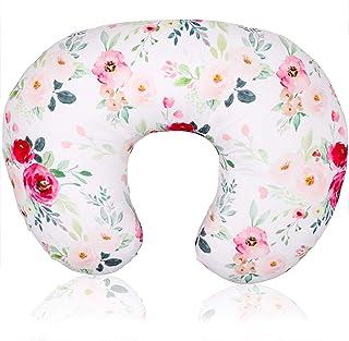 Floral Nursing Pillow Cover, Breastfeeding Pillow Slipcover for Baby Boys & Girls, Nursing Pillow Case for Newborn, Soft F...