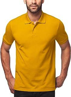 LAPASA Uomo Polo in 100% Cotone Manica Corta T-Shirt Classic Fit Magliette M19