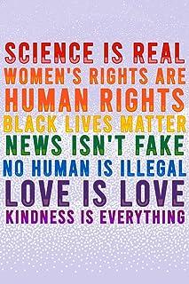 Science is Real Black Lives Matter Womens Rights LGBTQIA Kindness Rainbow Purple Cool Wall Decor Art Print Poster 12x18
