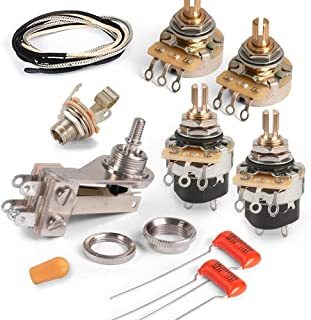 Golden Age Premium Wiring Kit for Gibson SG with Push-pull Pots, Standard-shaft CTS Pots and Chrome Switchcraft Switch