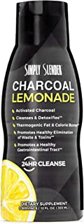 Charcoal Lemonade 24 Hour Cleanse with ECGC from Green Tea by Simply Slender - Activated Charcoal Drink with Natural Lemon...